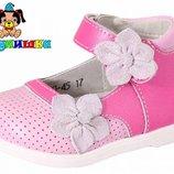 Туфли кожаные для девочки Шалунишка арт.100-45