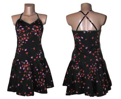 cc0b1ab6243 Платье-Сарафан солнце-клеш в цветочный принт XS S Италия  450 грн ...
