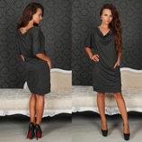 Элегантная женская туника-платье до больших размеров 291 Джерси Туника .