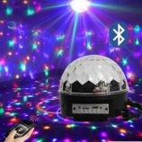 Новинка Диско-Шар музыкальный LED Magic Ball с Bluetooth, пультом и флешкой