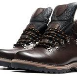 Мужские кроссовки на меху Ecco Biom,зимние,натуральная кожа,зимние,коричневый
