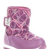 Сноубутсы для девочки 1974 фиол EEB.B фиолетовый 27, 28, 29, 30, 31, 32 Сноубутсы зимние для дево