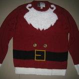 Новогодний Музыкальный, мужской свитер.кофта размер L 50-52 р-р