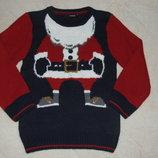 свитер новогодний 5-6лет большой выбор одежды 1-16лет