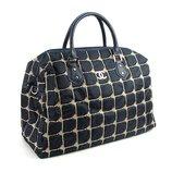 Сумка дорожная синяя текстильная стеганая женская Chanel 5340