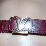 Стильний фирменний ремень пояс бренд Louis Vuitton 92 см