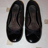 Балетки love your shoes 38 р., 24,5 cм, лакированные, черные
