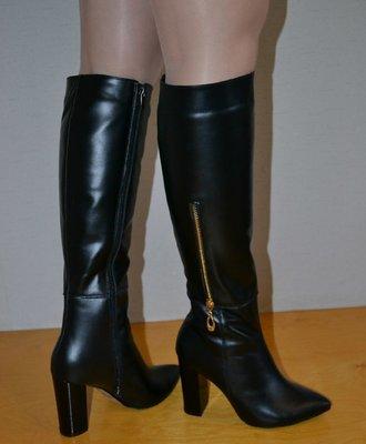 Недорогие с натуральной кожи зимние сапоги на каблуке г харьков