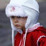 Фирменная шапочка 42-44 до 46 . Цвет белый.