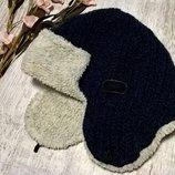 Теплая шапка-ушанка от AKAZ Польша ,синяя