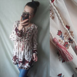 Шикарная блузка туника на завязках