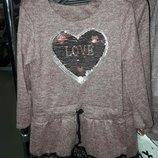 Платье теплое для девочки р.104-158