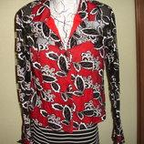 Нарядная блузка шифон и трикотаж на 48-50 размер