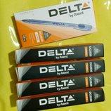 Ручки гелевые Delta. Толщина линии 0,5 мм. Цвет синий/черный.