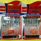 Ручки Maxrider . Толщина линии 0,5 мм. Цвет синий/черный.