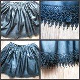 Бомбезная юбка эко кожа