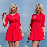Элегантное короткое женское платье Вырез Капелька в расцветках.