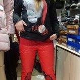 Стильные штаники брюки теплые пуховые для девочек