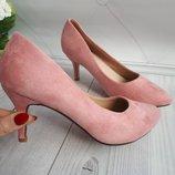 Туфли женские кожа...каблук 6-7см