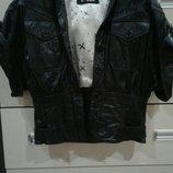 Фирменная кожаная куртка Oakwood