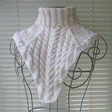 зимняя меланжевая манишка вместо шарфа