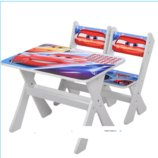 Столик и два стульчика деревянные Тачки М 2100-05