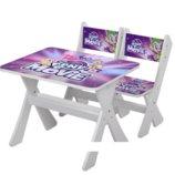 Столик и два стульчика деревянные Литл Пони М 2100-15