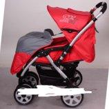 Детская коляска универсальная с алюминиевой рамой и перекидной ручкой G328. Несколько расцветок.