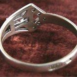 Кольцо Перстень Серебро 925 Проба 1,42 Гр 16 Разм Playmoment