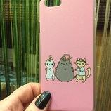 Чехол с котами розовый,айфон 6,6s