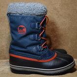 Термоботинки Sorel Youth Yoot Pac Nylon ботинки сапоги зимние. Распаровка. Оригинал. 34 р./22.5 см.