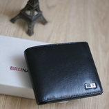 Мужской кошeлек ,портмоне Bruna burani , натуральная кожа новый в наличии