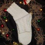 Обалденные новогодние вязаные зимние теплые носки идеальные, качество