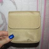 Бежевый кошелек в сумку на липучке