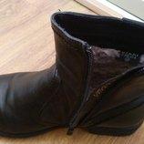 Зимние кожаные сапоги, черные, 38