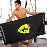 Стильное черное полотенце Ferrari - 2324