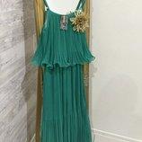 Роскошное Изумрудное Платье В Греческом Стиле