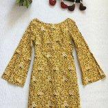 Бронь Zara трендовое платье с расклешенными рукавами S- M