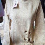 Теплый женский свитер MixRay со шнуровкой, Турция