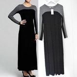 Платье макси с длинными рукавами Karen Kane черно-серого цветов, размер m полномер
