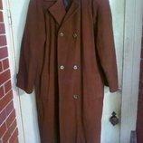 пальто мужское драп велюр зимнее коричневое 48-54