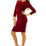 Стильное тёплое женское платье средней длины Ангора Портупей в расцветках.