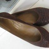 Туфли замшевые 37 р