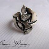 Серебряное кольцо, серебро 925 пробы, вставка цирконы
