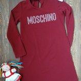 Стильное платье с чокером Moschino для девочки подростка