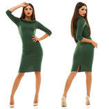Элегантное женское платье средней длины 128 Эластан Отворот в расцветках.