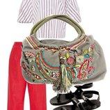 Стильная сумка - shopper от известного бренда Accessorize Очень вместительна