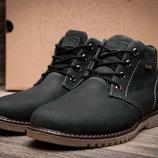 Ботинки на меху Timberland,зимние,мужские,натуральный нубук,черный