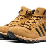 Кроссовки на меху Adidas Terrex Fastshell,зимние,мужские,замш,рыжий