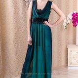Роскошное платье макси на Выпускной с кружевом, р.42 скинули цену